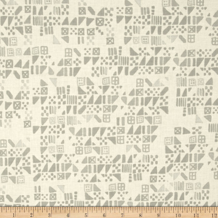 Cotton + Steel Clover Tiny Tiles Dove Fabric By The Yard