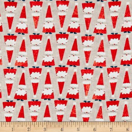 Cotton + Steel Garland Santa Parade Natural Fabric By The Yard