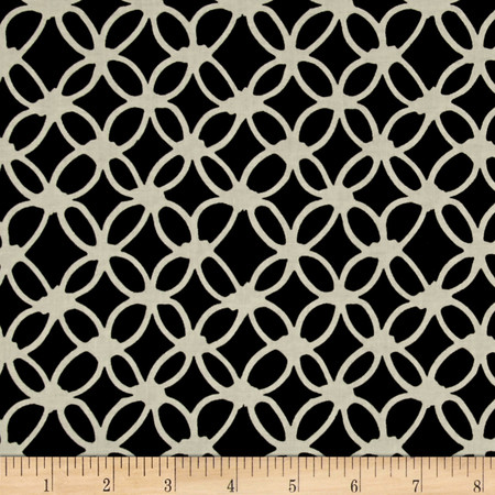 Cotton + Steel Macrame Knotty Midnight Fabric By The Yard