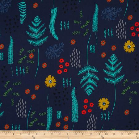 Cotton & Steel Mesa Fern Book Navy Fabric