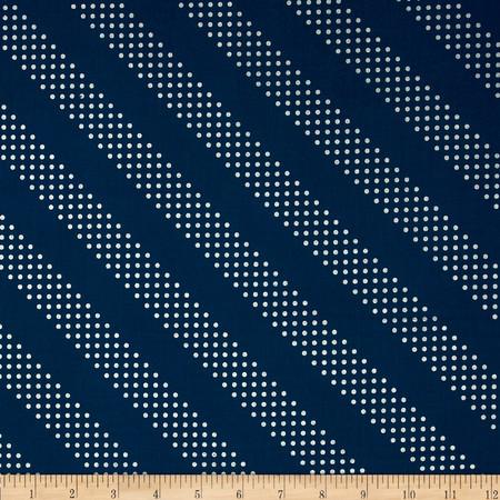 Cotton & Steel Metallic Dottie Night Owl Fabric