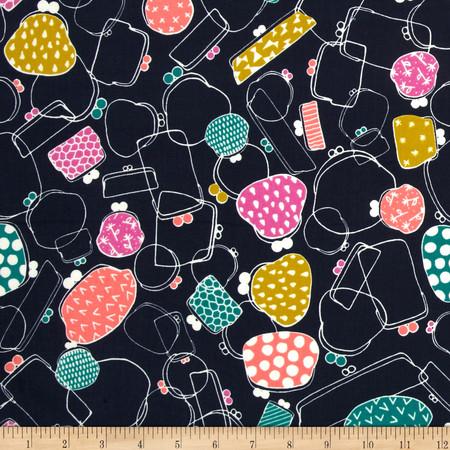 Cotton & Steel Mochi Gamaguchi Navy Fabric