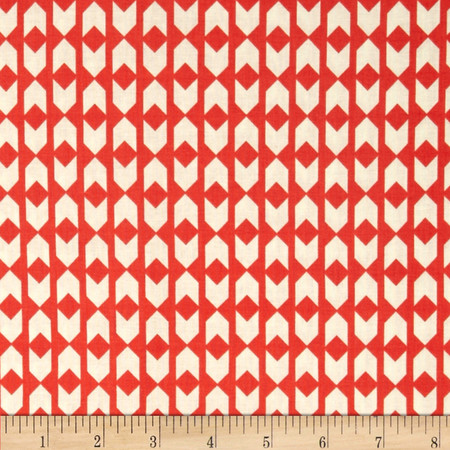 Cotton & Steel Moonlit Arrow Geo Coral Fabric