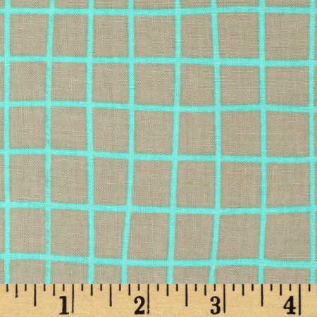 Cotton & Steel Moonlit Grid Aqua Fabric