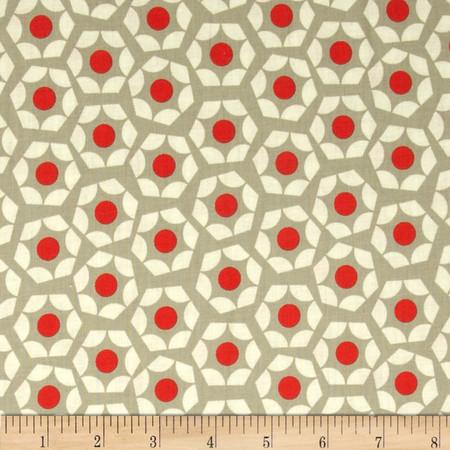 Cotton & Steel Moonlit Hexies Orange Fabric