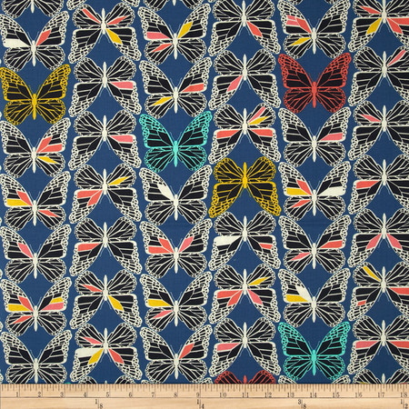 Cotton & Steel Moonlit Monarch Blue Fabric