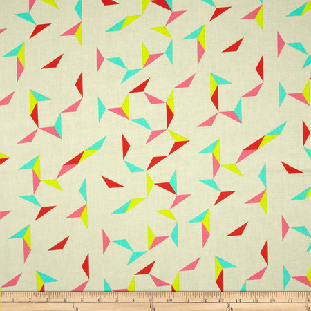 Cotton + Steel Moonlit Tangrams Cream Fabric By The Yard
