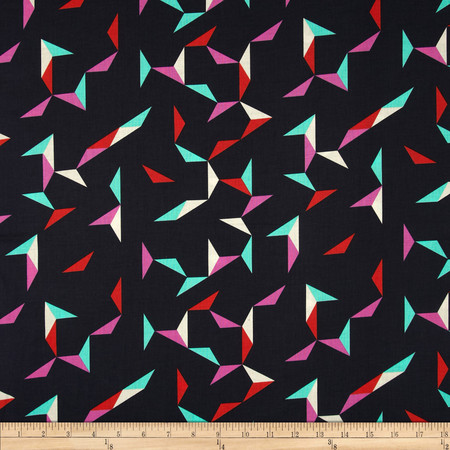 Cotton + Steel Moonlit Tangrams Navy Fabric By The Yard