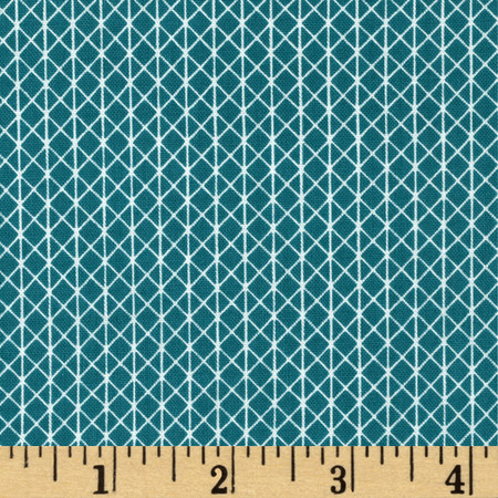 Cotton + Steel Netorious Teal Fabric By The Yard