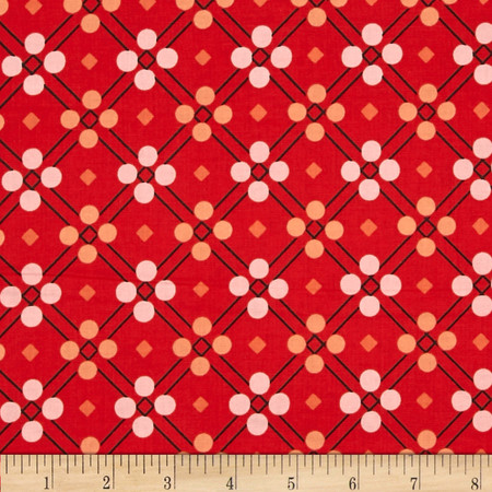 Cotton + Steel Picnic Blanket Red Fabric By The Yard