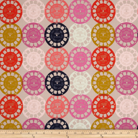 Cotton & Steel Playful Viewfinders Pink Fabric