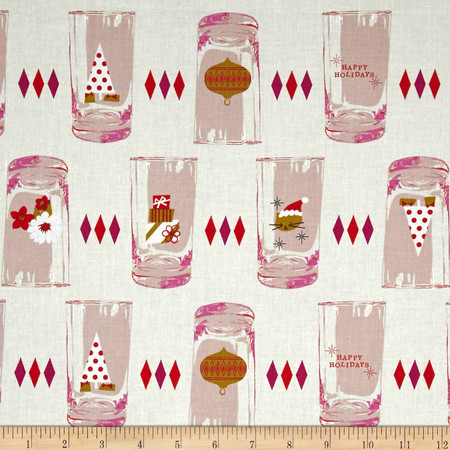 Cotton + Steel Tinsel Glasses Cream Fabric By The Yard