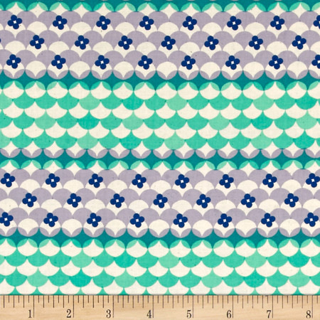 Cotton + Steel Trinket Gum Drops Blue Fabric By The Yard