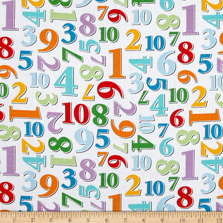 Count With Me Numbers Allover Multi Fabric