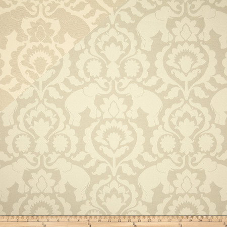 Covington Babar Elephants Jacquard Dove Fabric
