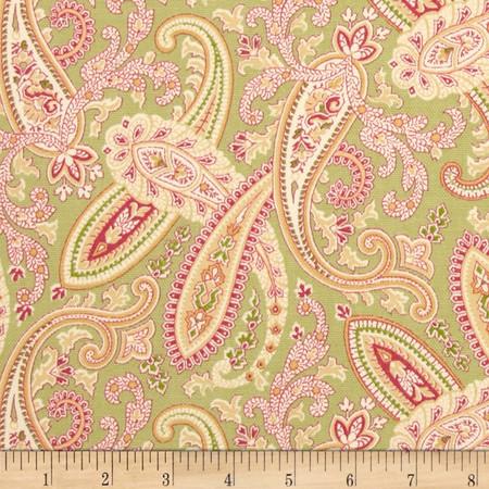Covington Ballard Paisley Nectar Fabric By The Yard