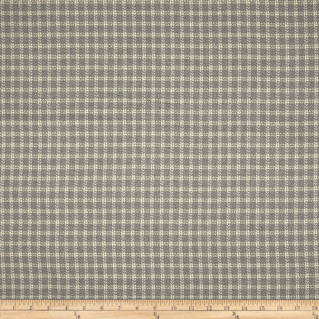 Covington Homespun Plaid Bamboo Blend Sterling Fabric