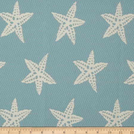 Covington Indoor/Outdoor Starfish Capri Blue Fabric By The Yard