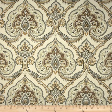 Covington Kashmiri Twill Sandstone Fabric