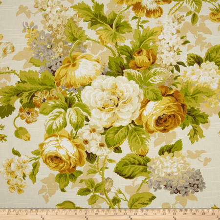 Covington Lismore Gardens Slub Empire Gold Fabric