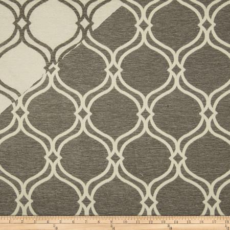 Covington Maderia Chenille Jacquard Dove Fabric