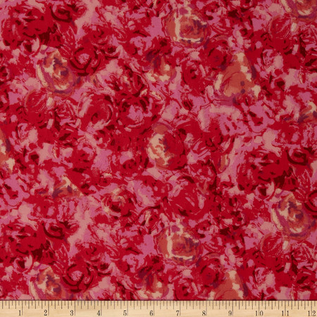 Crepe Floral Fuchsia/Pinks Fabric