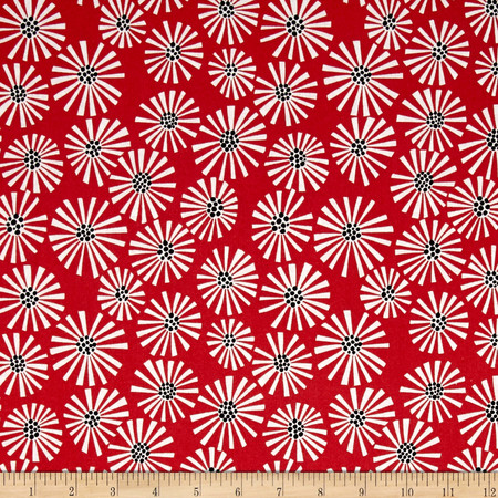 Cutting Garden Burst Red Fabric