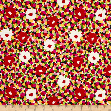 Dear Stella Abstract Flowers Multi Fabric By The Yard