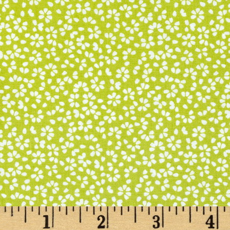Dear Stella Calico Floral Green Fabric