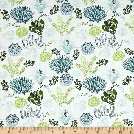 Dear Stella Desert Bloom Succulents Green Fabric By The Yard