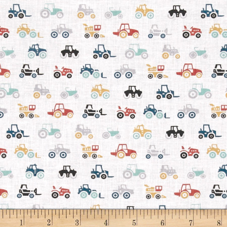 Dear Stella Farm Fresh Tractors Multi Fabric By The Yard