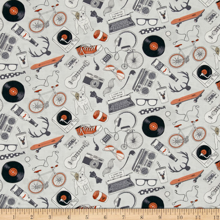 Dear Stella Hipster Hipster Kit Nickel Fabric By The Yard