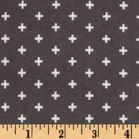 Dear Stella Intermix Flannel Positive Ash Fabric By The Yard