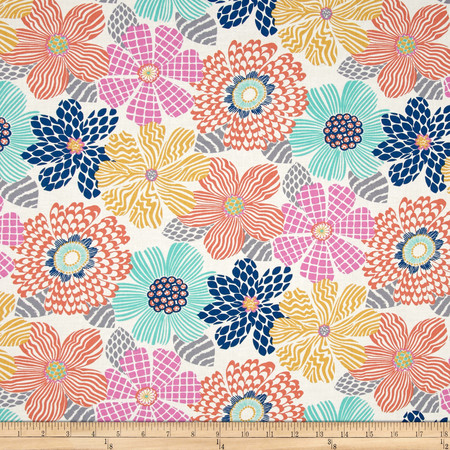Dear Stella Junebug Floral Texture Multi Fabric By The Yard