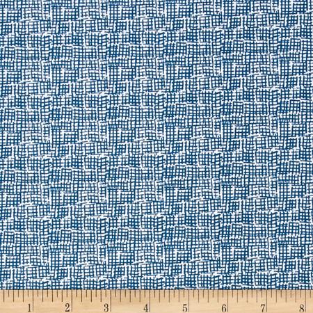 Dear Stella Net Blue Fabric