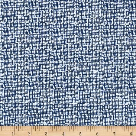Dear Stella Net Cobalt Fabric