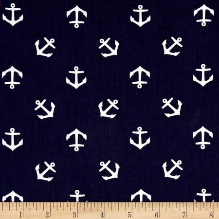 Dear Stella Rock Lobster Anchors Navy Fabric By The Yard