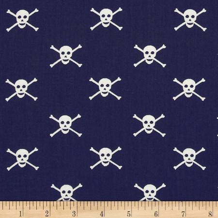 Dear Stella Sea Worthy Jolly Rodges Navy Fabric