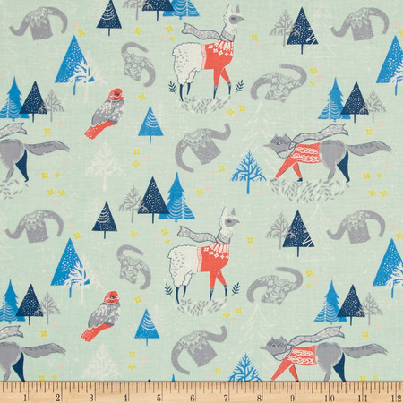 Dear Stella Snofall Winterscape Multi Fabric By The Yard
