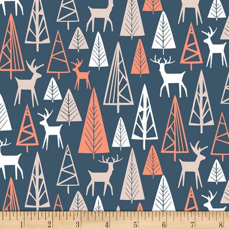 Dear Stella The Big Chill Nighttime Gander Navy Fabric By The Yard