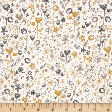 Dear Stella Timberland Fauna White Fabric By The Yard