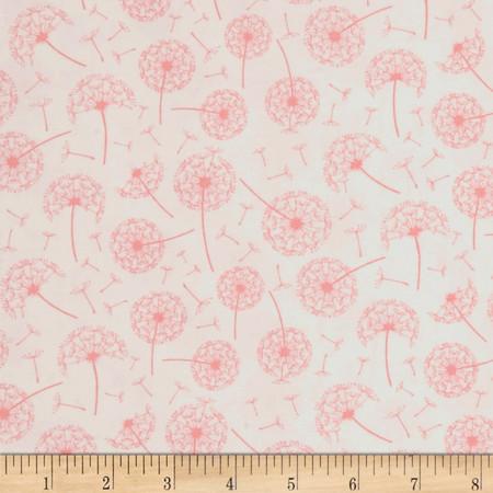 Dear Stella Whisper Dandelions White Fabric By The Yard