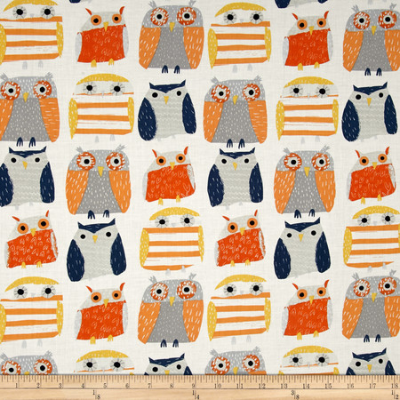 Dear Stella Wildwood Owls Multi Fabric By The Yard