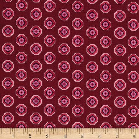 Denyse Schmidt Chicopee Aztec Plum Multi Fabric By The Yard