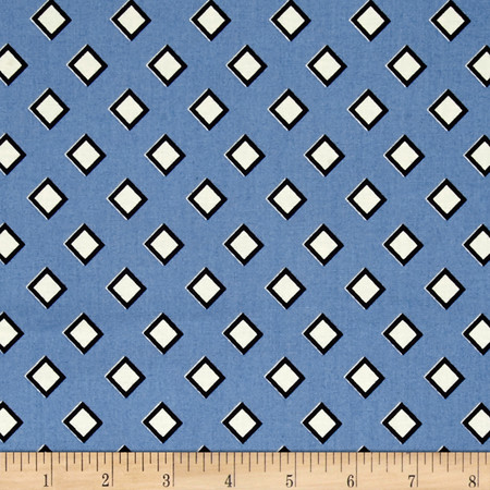 Denyse Schmidt Stonington Diamond Diagonal Dungaree Fabric By The Yard