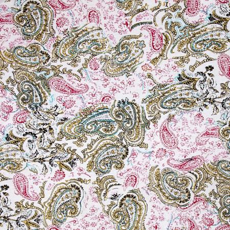 Designer Jersey Knit Printed Paisley Yellow Fabric
