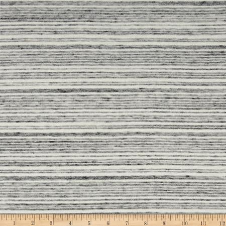 Designer Jersey Knit Stripe Grey Fabric