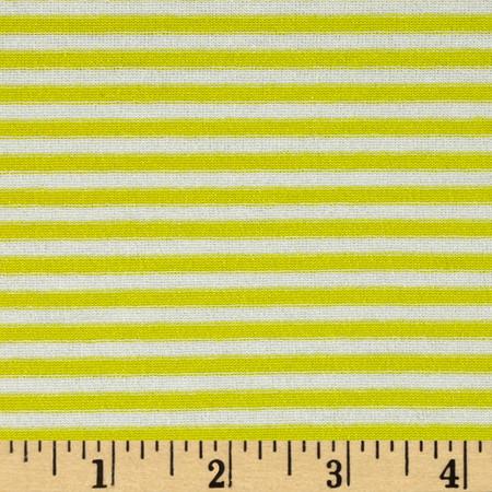 Designer Jersey Knit Stripe Yellow/White Fabric