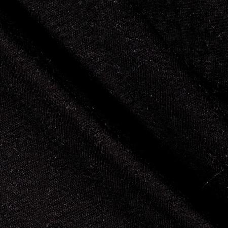 Designer Slub Jersey Knit Solid Black Fabric