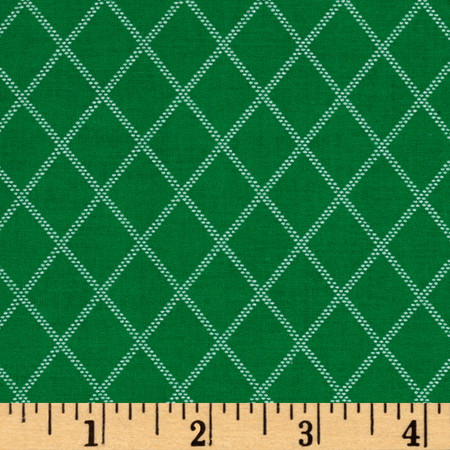 Diamonds Green Fabric
